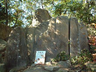 方位石の側面