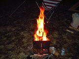 チャコスタで焚き火